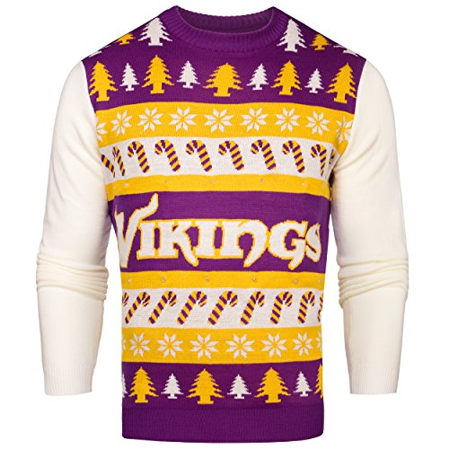 NFL Minnesota Vikings Light-Up One Too Many Ugly Sweater