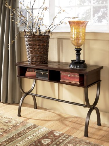 Cheap Rustic Brown Medium Brown Zander Sofa Console Table (T415-4)
