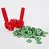 Chicago Brew Werks Red Baron Bottle Capper with 144 Count Hop Cone Crown Oxygen Barrier Beer Bottle Caps (Color: Green)