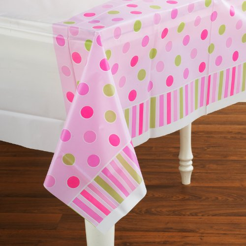 "Amscan Pretty Little Princess Plastic Table Cover Baby Shower Party Supply, 54 x 102"", Pink/Green/Purple - 1"