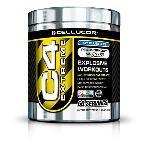 Pre-Workout W/ No3 - Highly Explosive Energy - Cellucor C4 Extreme - Blue Raspberry