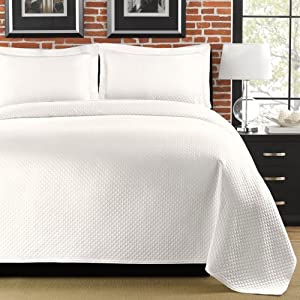 Lamont Home Diamante King Coverlet, White