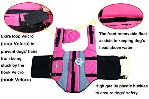 Vivaglory Dog Life Jackets with Extra Padding for Dogs, X