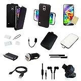 23 teiliges Samsung Galaxy S5 mini | G800 | Ersatzteile Set Paket | Schwarz