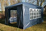 Airwave 3m x 4m Gazebo Party Tent Marquee Awning BLUE with Side Panels. 120g WATERPROOF Canopy and Powder Coated Steel Frame.