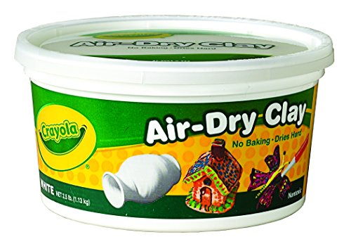 Crayola Air Dry Clay 2.5 Lb Bucket, White (White Air Dry Clay compare prices)