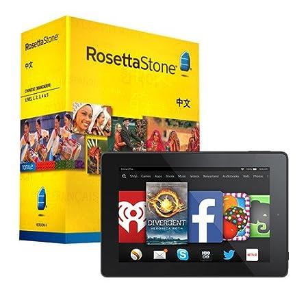 Rosetta Stone Chinese (Mandarin) Level 1-5 Set and Fire HD 7 Bundle