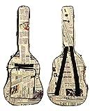 ギター用 キャリーバッグ 英文字 デザイン ニュースペーパー 英文字
