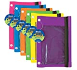 OMURA Vinyl Zipper Wallet, 11 x 6 Inches, Clear (PACK OF 6)