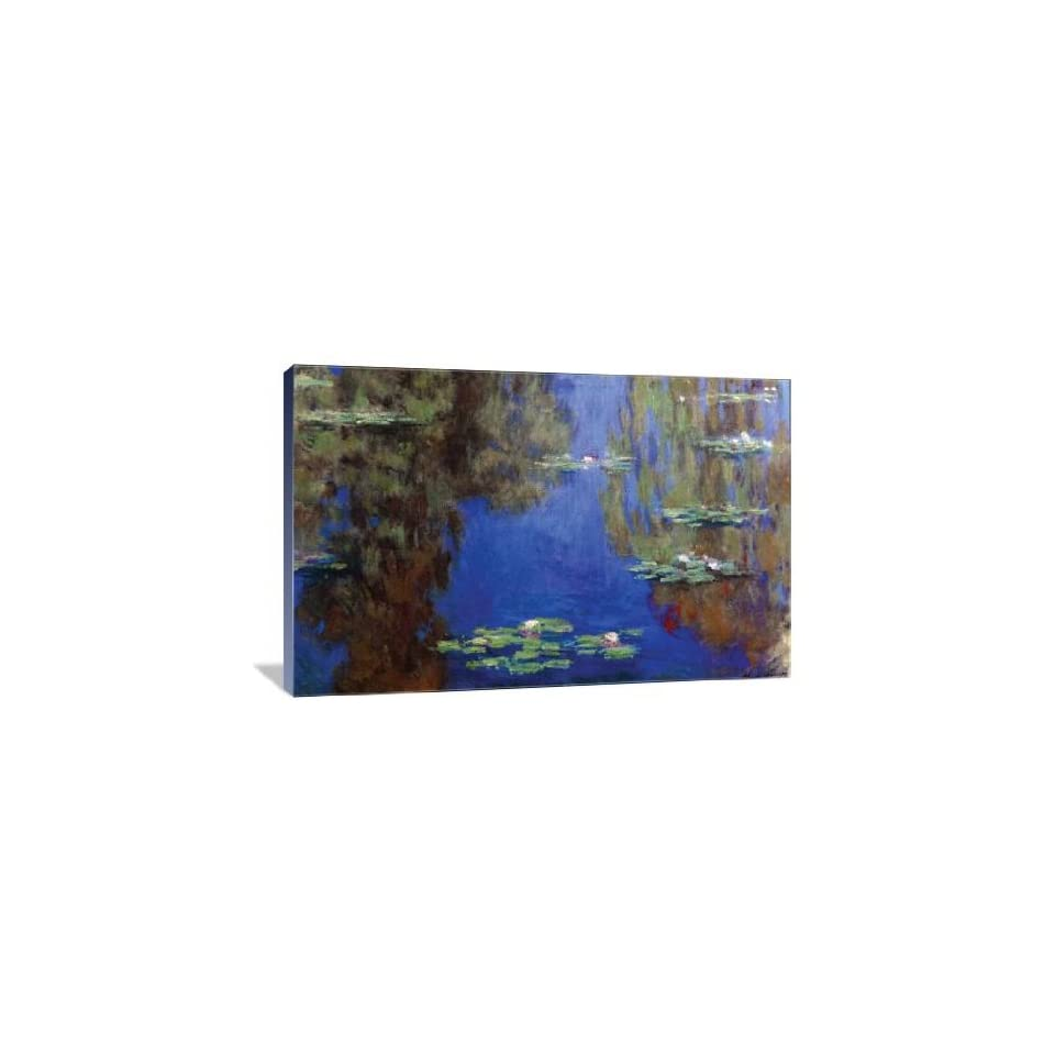 Monet   Water Lilies   Gallery Wrapped Canvas   Museum Quality  Size 24 x 16 by Claude Monet
