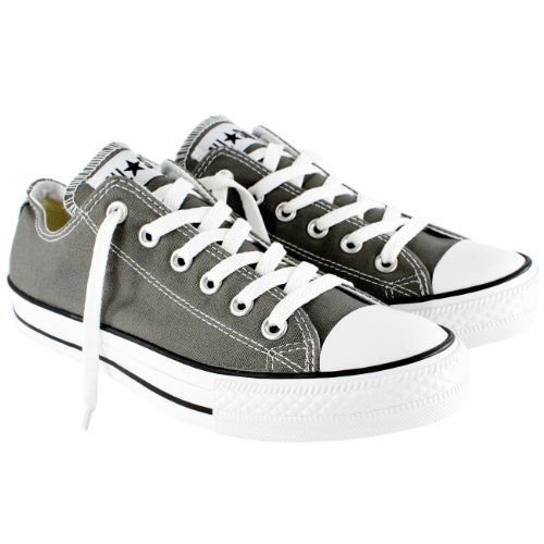 Womens Converse All Star Ox Low Chuck Taylor Chucks Sneaker Trainer - Charcoal - 10