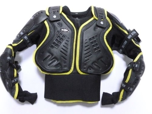 KIDS PROTECTION JACKET MOTORCYCLE MOTORBIKE MOTOCROSS BODY ARMOUR YELLOW (8 Years/ M)