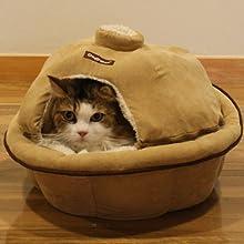 【New】ドギーマン ぬくぬくねころん鍋フタつき 【今年も登場!!ぬくもり逃さない大人気の猫鍋♪】