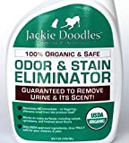 Odor & Stain Remover - 100% Organic and Safe for Pet, No Smell, No Chemicals - Rids Urine - GUARANTEED TO WORK- best for carpets, furniture, tile, hardwood floors, cages and litter boxes