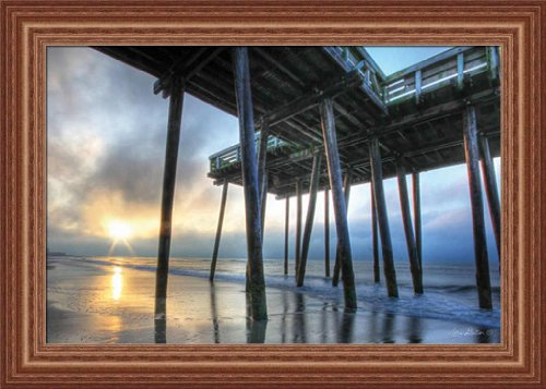 Sunrise At The Pier By Lori Deiter Photography 21X15 Framed Art Print Picture Wall Decor front-129700