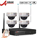 ANRAN 720P 4CH Wireless NVR Security Camera System with 4 1.0MP Outdoor IP Network Vandal Proof Dome Camera No Hard Drive - Best Reviews Guide