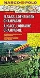 MARCO POLO Karte Elsass, Lothringen, Champagne (Marco Polo Maps)