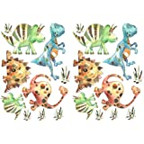 dinsoaur stickers,wall stickers,boys rooms, kids stickersby tigerlilyprints