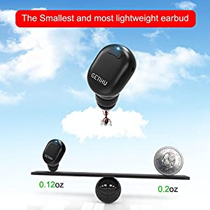 b304118cff6 GETIHU Bluetooth Earbud Mini Invisible Wireless In-Ear headphone with 6  Hours Playtime with Mic ...