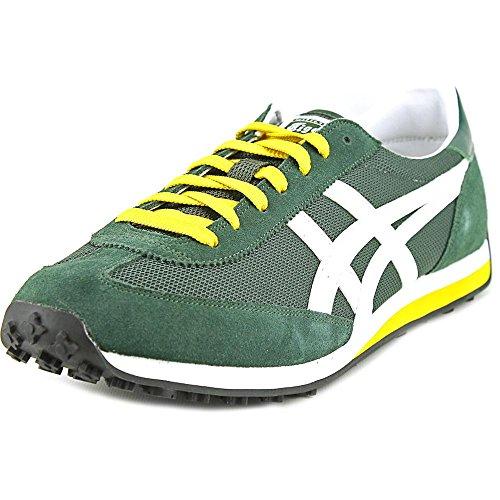 Onitsuka Tiger EDR 78 Classic Running Shoe, Dark Green/Slight White, 12.5 M US