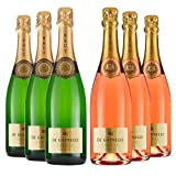 Le Bon Vin Louis de Grenelle Sparkling Saumur Case Brut and Rose Wine 75 cl (Case of 6)