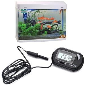 HDE LCD Digital Fish Tank Aquarium Thermometer
