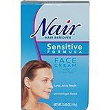 Nair Hair Remover Sensitive Formula Face Cream with Green Tea, .69-Ounce Tubes (Pack of 3)