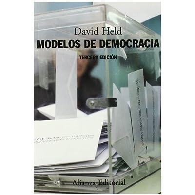 Modelos de democracia/ Models of Democracy (Spanish