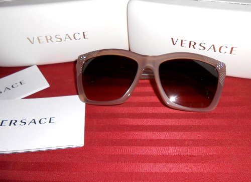 Free Shipping* Authentic Versace Womens Fashion Sunglasses Summer Beach Eyewear Holiday Birthday Wedding Gift - Nude Color