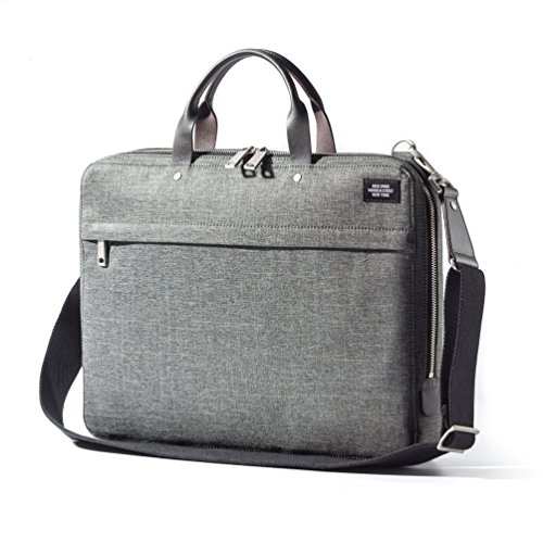 Jack Spade Mens Tech Oxford Slim Briefcase - 16 Inches, Grey (Jack Spade Laptop Sleeve compare prices)