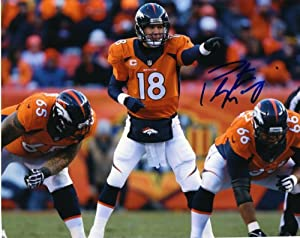 Denver Broncos PEYTON MANNING Signed Autographed 8x10 Photo COA by Football