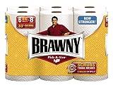 Brawny Paper Towels, Pick-A-Size, White, Big Roll - 6 pk