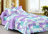 Story@Home 208 TC 100% Cotton Lavender 1 Single Bedsheet with 1 Pillow Cover