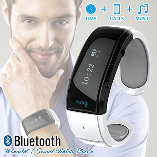 Indigi® Bluetooth Smart Wrist Watch Phone Bracelet For Ios Android Samsung Iphone Htc (Us Seller)