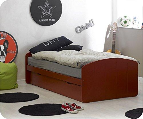 Paket Ausziehbett Rêve rot 90x200cm, mit 2 Matratzen online kaufen