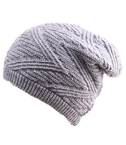 hieasy-unisex-thick-knit-beanie-skull-hat-fleece-lined-slouchy-winter-cap-gray