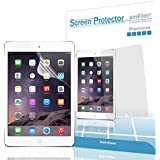 iPad Air Screen Protector, amFilm® Screen Protector for Apple iPad Air 2, iPad Air, iPad 5 and iPad 6 Premium Anti-Glare/Anti-Fingerprint with Lifetime Warranty (2-Pack) [in Retail Packaging]