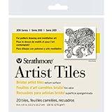 Strathmore Bristol Artist Tiles, 4 by 4-Inch, Vellum, 20-Pack