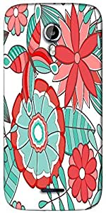 Snoogg abstract floral background Designer Protective Back Case Cover For Micromax A117