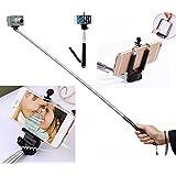 The Selfie Stick Selfie Stick Self Portrait Wireless Cable Control Monopod [Battery Free] Extendable Handled Stick...