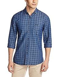 Wrangler Men's Casual Shirt (8907222640439_W14965640338_X-Large_Rinse)