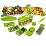 House Of Quirk TM ABS Quality 10 Pcs Set Best Mandoline Kitchen Genius Slicer Dicer Cuts Vegetables & Fruits With...