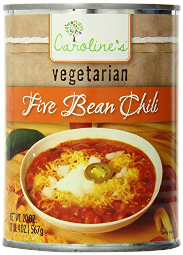 Caroline's Five Bean Chili, 20 Ounce (Pack of 12)
