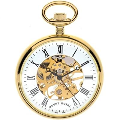 Mount Royal Pocket Watch B3P/RN Gold Plated Open Face