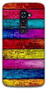The Racoon Lean Pastel Wood hard plastic printed back case / cover for LG G2