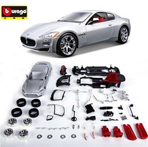 Bburago 1:24 Maserati GT Diecast Assembly Line Model Car Vehicle Silver New in Box (Maserati Model compare prices)