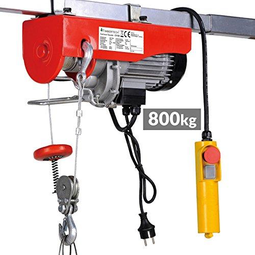 Timbertech Paranco argano verricello elettrico carico massimo ca. 400/800 kg