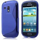 Schicke Schutzhülle für Samsung Galaxy S3 mini i8190 - Ultra Slim in S-line Design Blau von PrimaCase