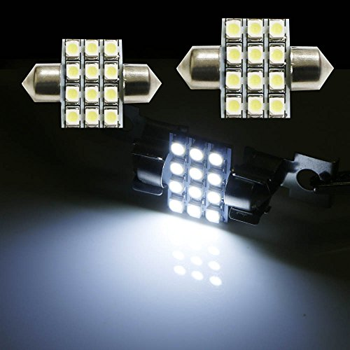 ijdmtoy 2 31mm 12 smd de3175 de3022 de3021 festoon led replacement bulbs for car interior. Black Bedroom Furniture Sets. Home Design Ideas