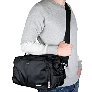 7dayshop Photographers Shoulder Bag / Camera Bag with Rain Cover